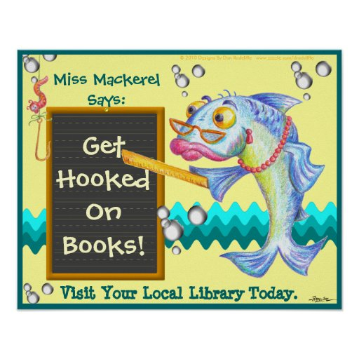 Get Hooked On Books! Posters
