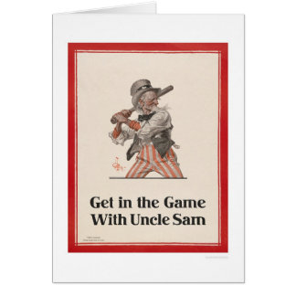 Get in the Game with Uncle Sam Greeting Card