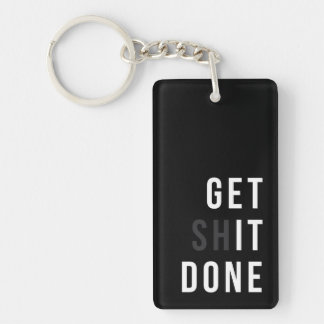 Get It Done Acrylic Keychain (double-sided)
