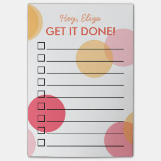 Get It Done Fun Confetti To Do List   Custom Name Post-it Notes