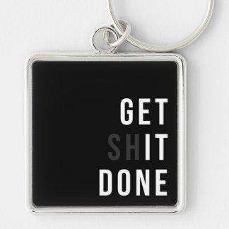 Get it Done Metal Keychain