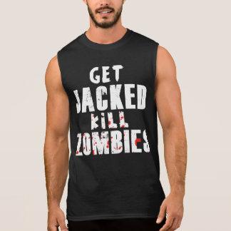 Get Jacked, Kill Zombies Sleeveless Shirt