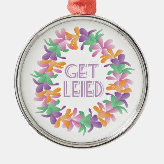 Get Leied Silver-Colored Round Decoration