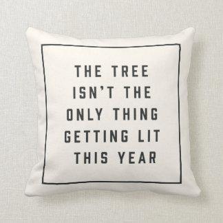 Get Lit   Funny Christmas Cushion