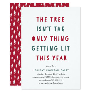 Get Lit | Holiday Cocktail Party Invitation