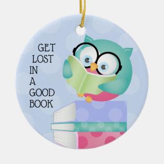 Get Lost In A Good Book BOY Ceramic Ornament
