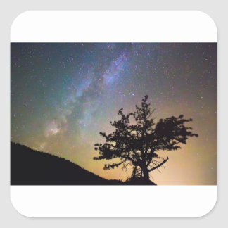 Get Lost In Space Square Sticker