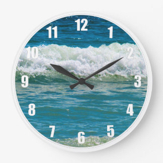 Get Lost in the Waves Large Clock