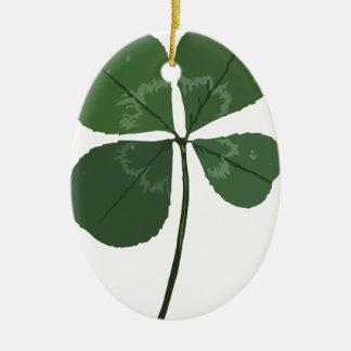 Get Lucky Ceramic Oval Decoration