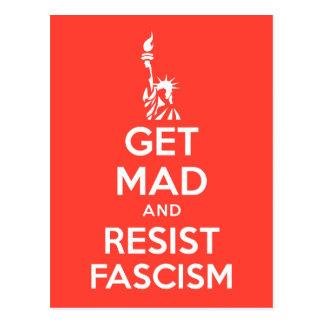 Get Mad And Resist Fascism Postcard