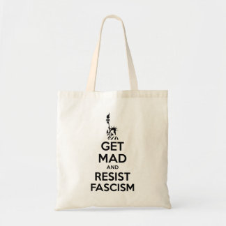 Get Mad And Resist Fascism Tote Bag