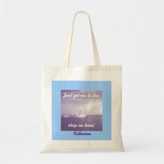 Get Me to the Ship Personalized Budget Tote Bag