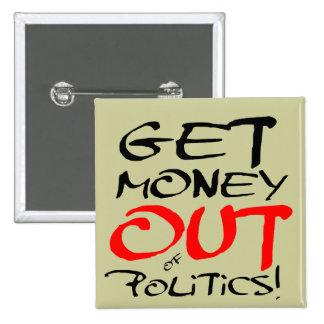 Get Money Out! 15 Cm Square Badge