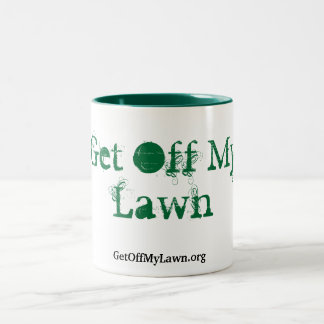 Get Off My Lawn! Two-Tone Coffee Mug