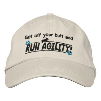 Get Off Your Butt Dog Agility Embroidered Hat