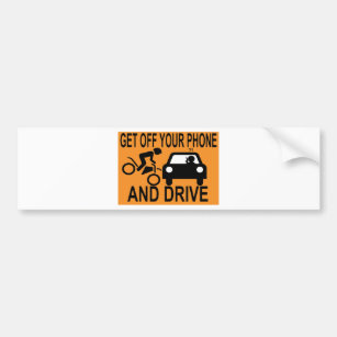 Hang Up And Drive Bumper Sticker Vinyl Decal Cell Phone No Text Car Funny  au
