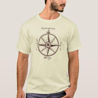 Get Oriented Antique Orient-Occident Map Compass T-Shirt