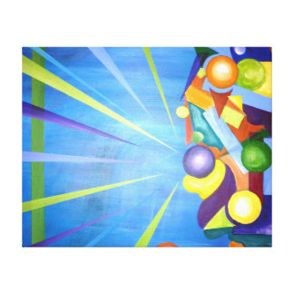 Get out of the box stretched canvas print