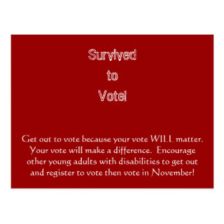 Get out to vote post card