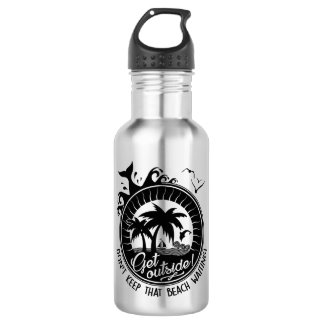 Get Outside Comical Outdoorsy Nature Lover Pun 532 Ml Water Bottle