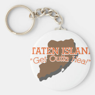 Get Outta Hea! Basic Round Button Key Ring