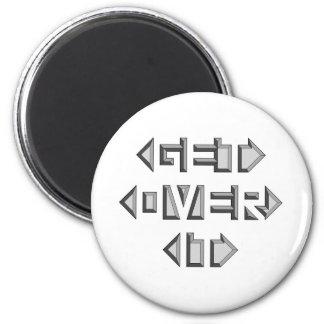 Get Over It 6 Cm Round Magnet