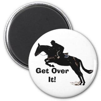 Get Over It Horse Jumper Refrigerator Magnet