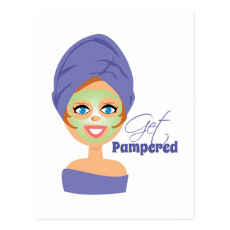 Get Pampered Postcard
