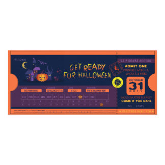Get Ready For Halloween Ticket Card
