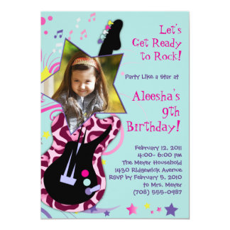 Get Ready to Rock! Rock Star Diva Party Invitation