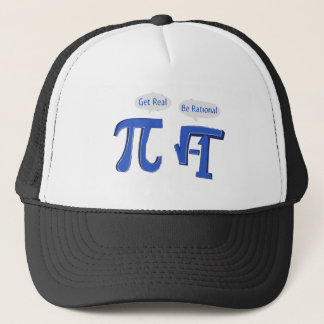 Get Real Be Rational Trucker Hat