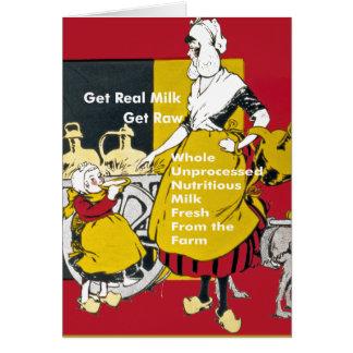 Get Real Milk- Get Raw Vintage Poster Card