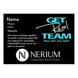 Get Real Team Chubby Cards Pack Of Chubby Business Cards