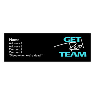 Get Real Team - Skinny Card Pack Of Skinny Business Cards