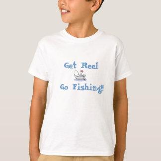 Get Reel, Go Fishing!!! kids shirt