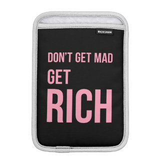 Get Rich Money Quotes Inspiring Pink Black Sleeve For iPad Mini