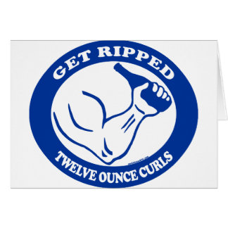 GET RIPPED GREETING CARD