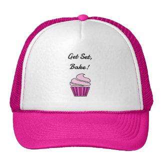Get set bake pink cupcake cap