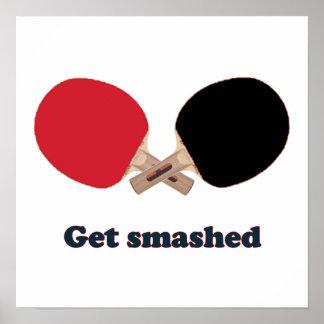 Get Smashed Ping Pong Poster