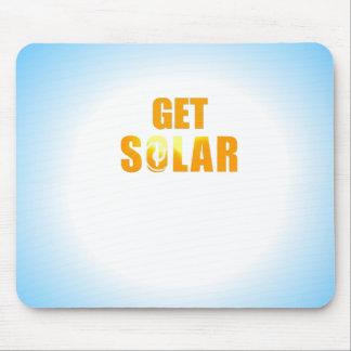 Get Solar Logo Ecofriendly Solar Energy Mouse Pad
