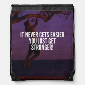 Get Stronger - Workout Motivational Drawstring Bag