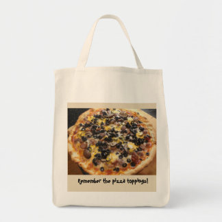 Get Stuff to put on Pizza Tote Bag
