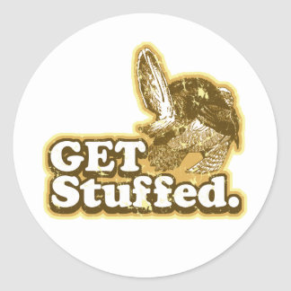 Get Stuffed Funny Thanksgiving Stickers