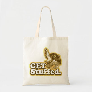 Get Stuffed Funny Thanksgiving tote bag