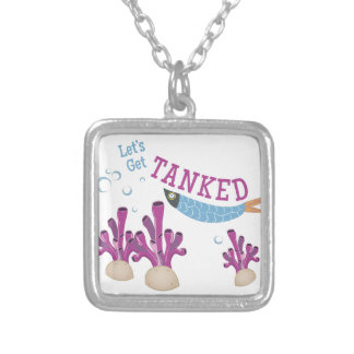 Get Tanked Silver Plated Necklace