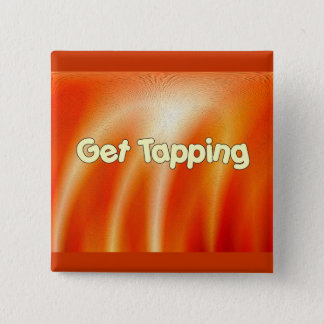 Get Tapping -Tap Dancing 15 Cm Square Badge