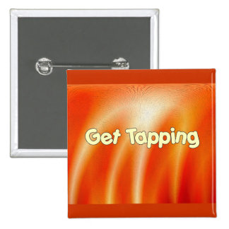 Get Tapping -Tap Dancing 15 Cm Square Badge