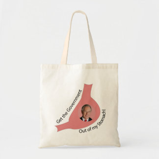 Get the Government Out of My Stomach Tote Bags