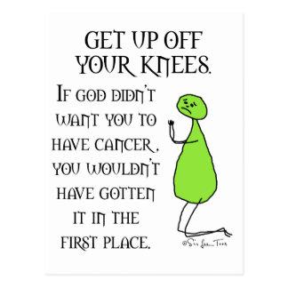 Get Up Off Your Knees Postcard