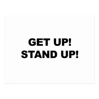 GET UP! STAND UP! POSTCARD